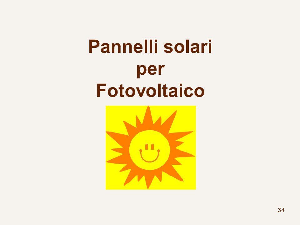 34 Pannelli solari per Fotovoltaico