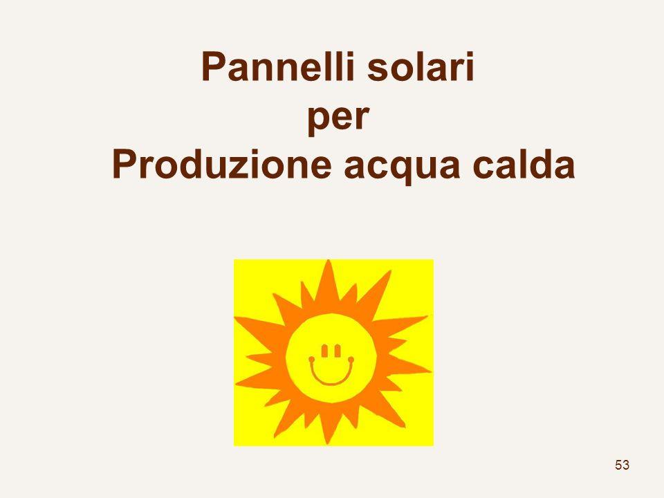 53 Pannelli solari per Produzione acqua calda