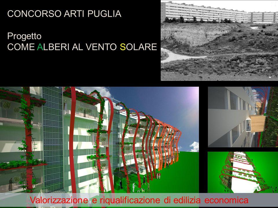 9 CONCORSO ARTI PUGLIA Progetto COME ALBERI AL VENTO SOLARE Valorizzazione e riqualificazione di edilizia economica