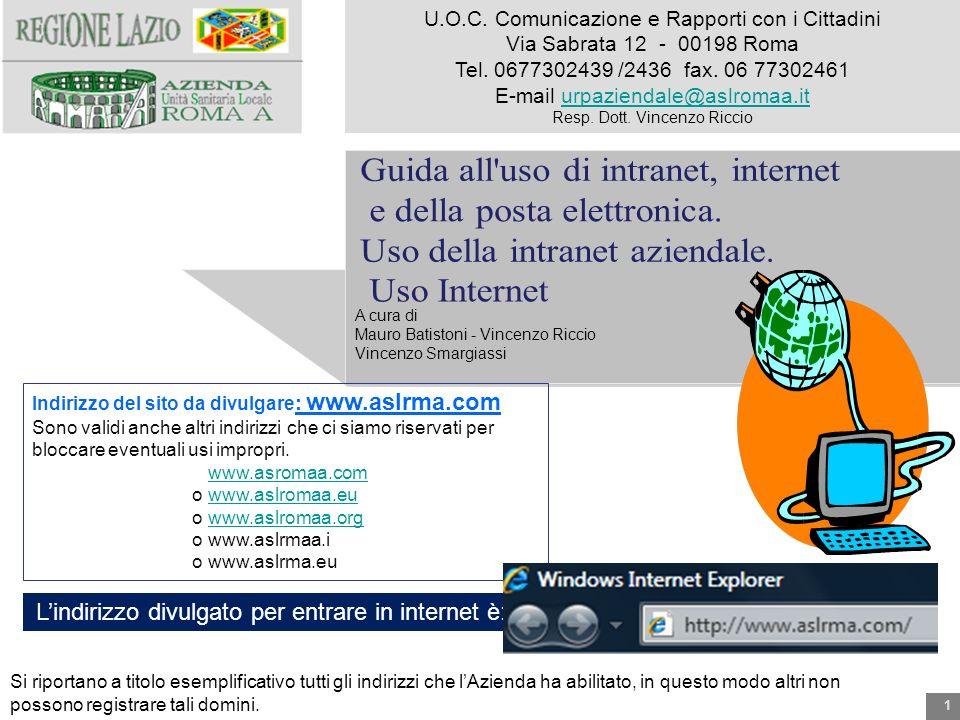 1 A cura di Mauro Batistoni - Vincenzo Riccio Vincenzo Smargiassi Indirizzo del sito da divulgare : www.aslrma.com Sono validi anche altri indirizzi c