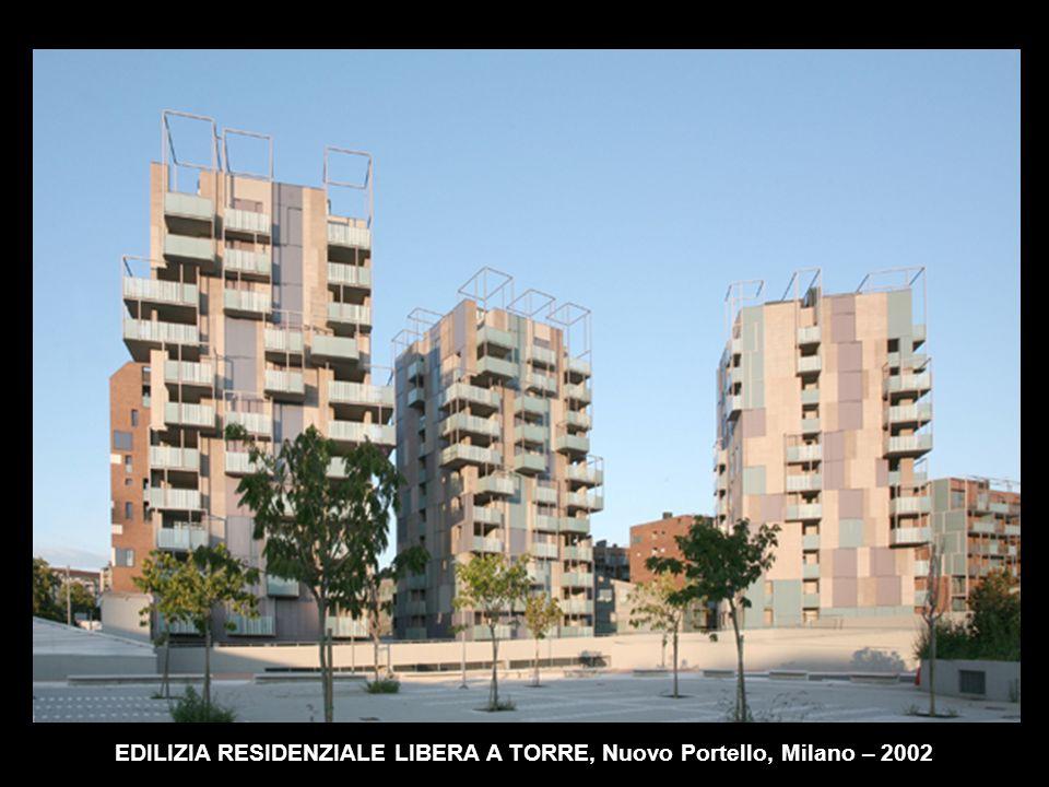 EDILIZIA RESIDENZIALE LIBERA A TORRE, Nuovo Portello, Milano – 2002