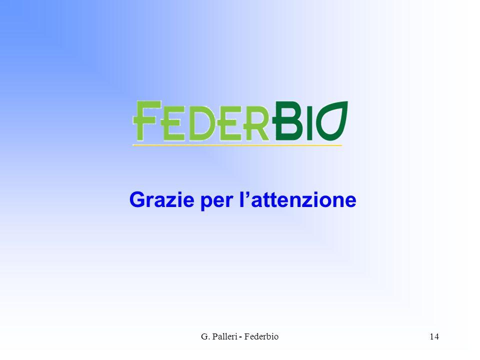 G. Palleri - Federbio14 Grazie per lattenzione