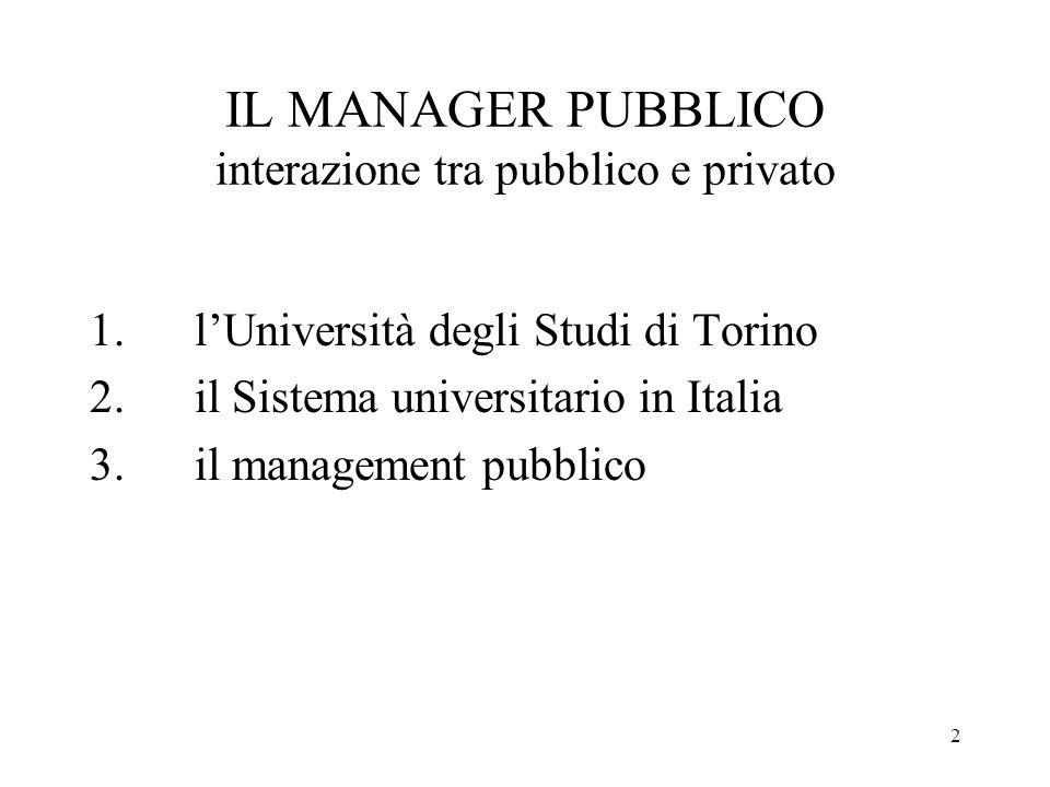 3 LUniversità degli Studi di Torino Organi organizzazione dimensioni dati principali