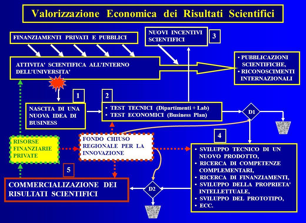 Valorizzazione Economica dei Risultati Scientifici PUBBLICAZIONI SCIENTIFICHE, RICONOSCIMENTI INTERNAZIONALI ATTIVITA SCIENTIFICA ALLINTERNO DELLUNIVE