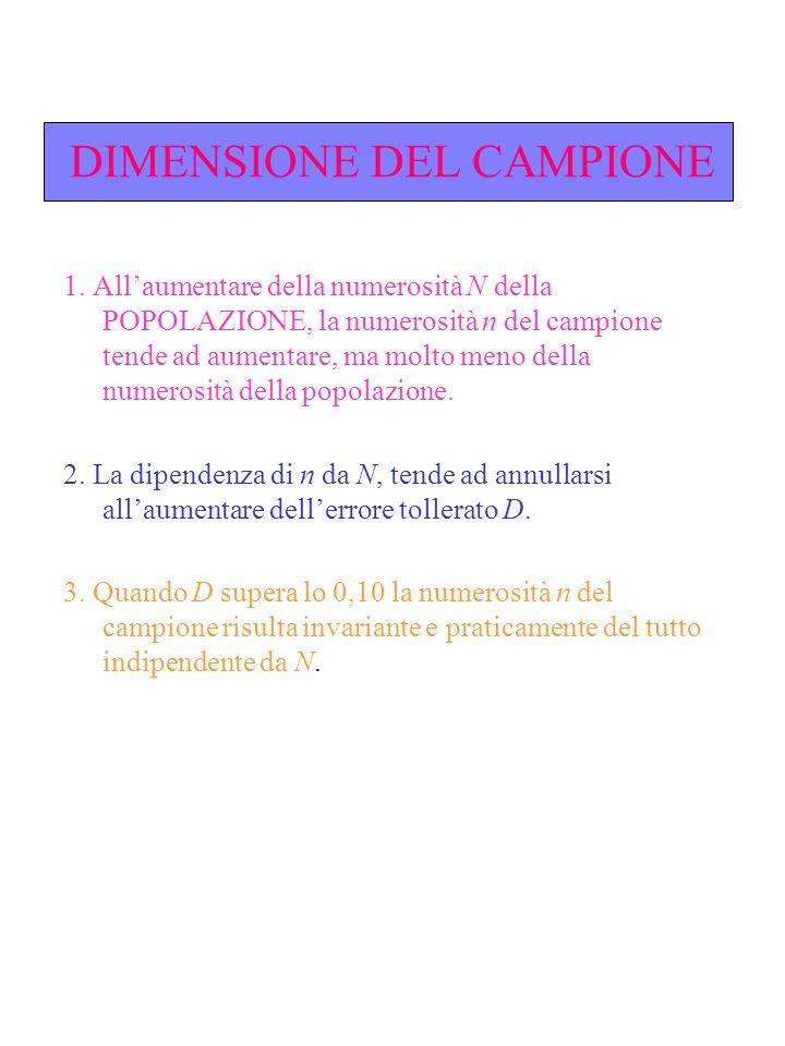 DIMENSIONE DEL CAMPIONE 1.