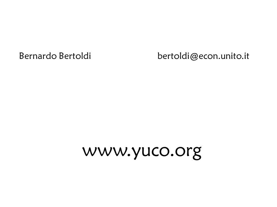 Bernardo Bertoldibertoldi@econ.unito.it www.yuco.org