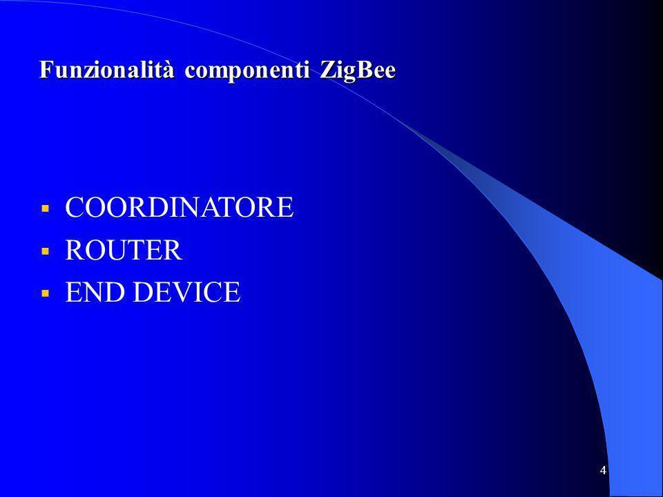 5 COORDINATORE La rete viene formata e definita dal coordinatore.
