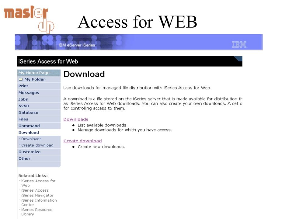 Access for WEB Accesso al Data Base