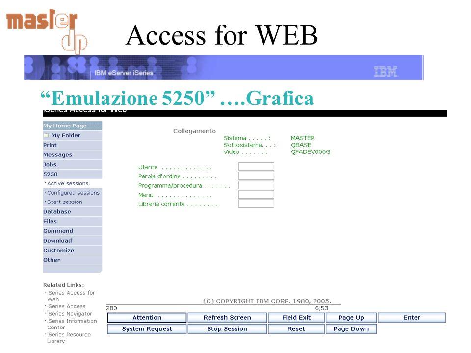 Access for WEB Emulazione 5250 ….Grafica
