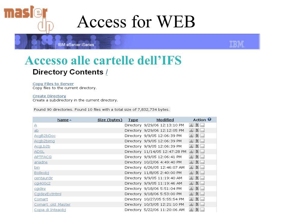 Access for WEB Accesso alle cartelle dellIFS
