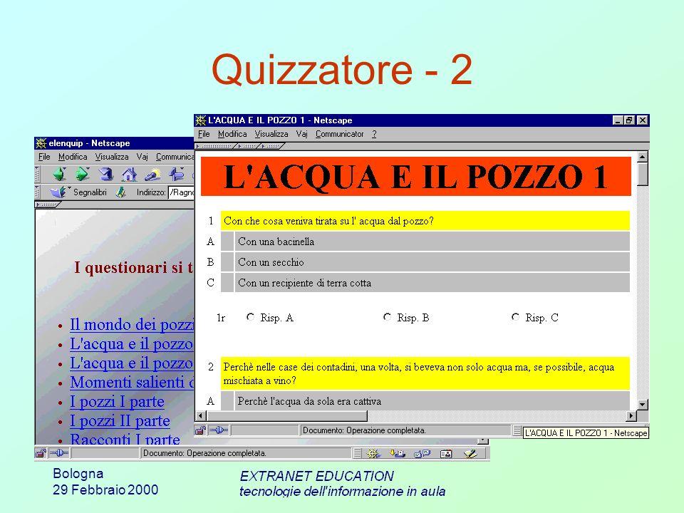 Bologna 29 Febbraio 2000 Quizzatore - 2