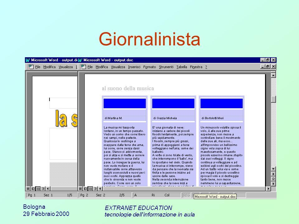 Bologna 29 Febbraio 2000 Giornalinista