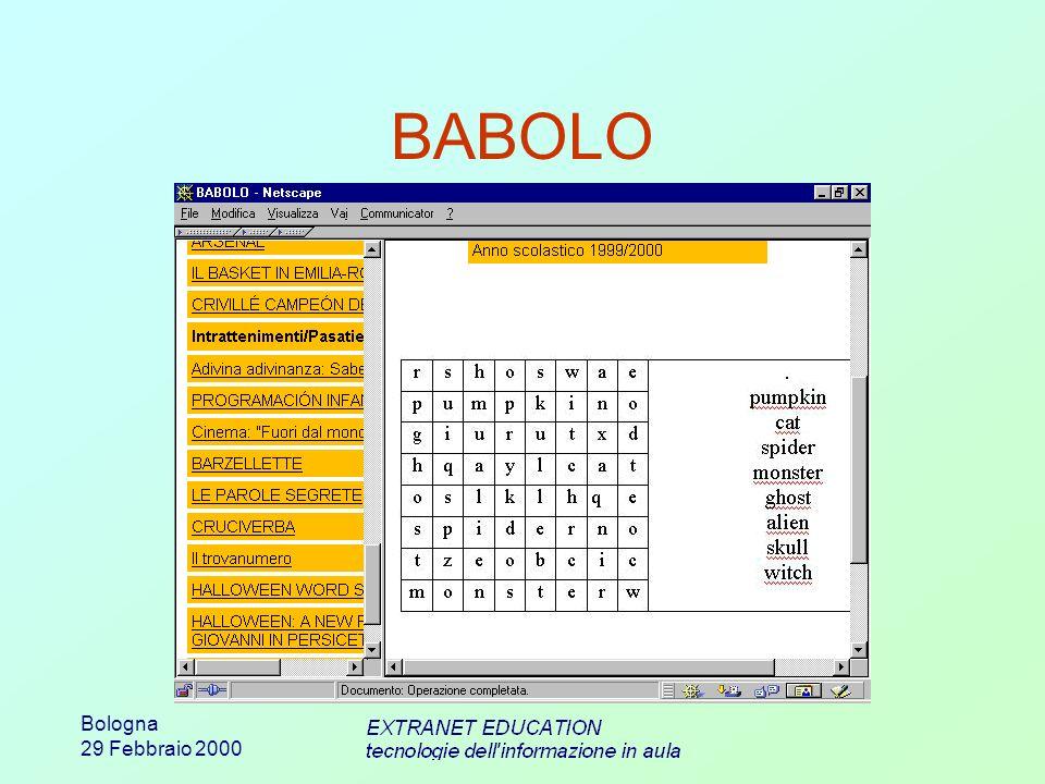 Bologna 29 Febbraio 2000 BABOLO