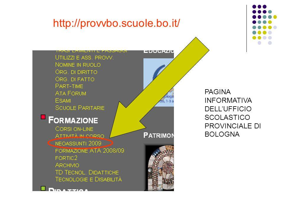 http://provvbo.scuole.bo.it/ PAGINA INFORMATIVA DELLUFFICIO SCOLASTICO PROVINCIALE DI BOLOGNA