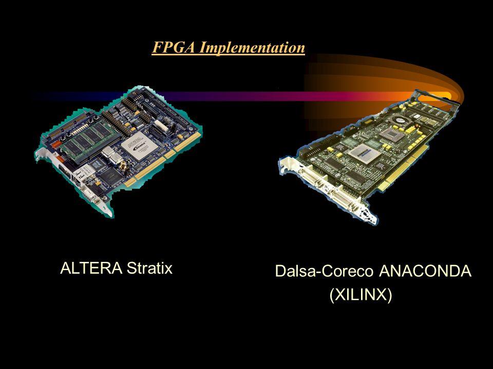 FPGA Implementation ALTERA Stratix Dalsa-Coreco ANACONDA (XILINX)