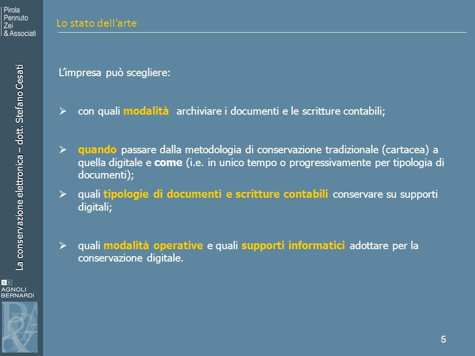La conservazione elettronica – dott.Stefano Cesati 6 Art.