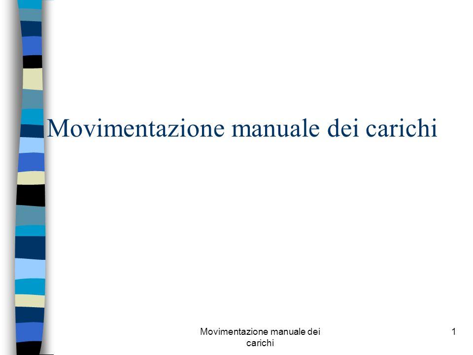 Movimentazione manuale dei carichi 1