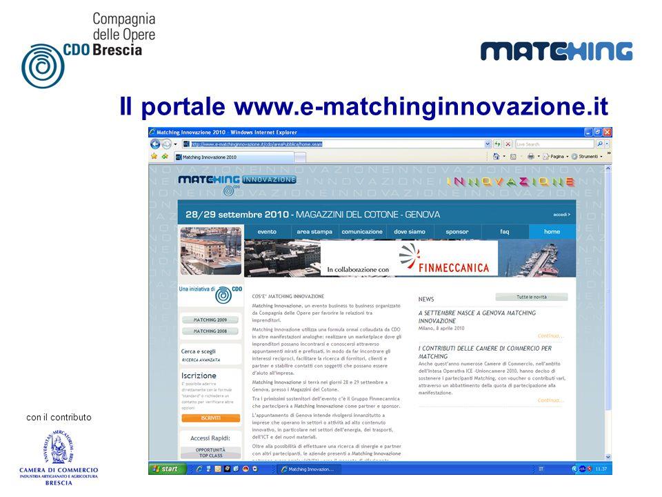 con il contributo Il portale www.e-matchinginnovazione.it