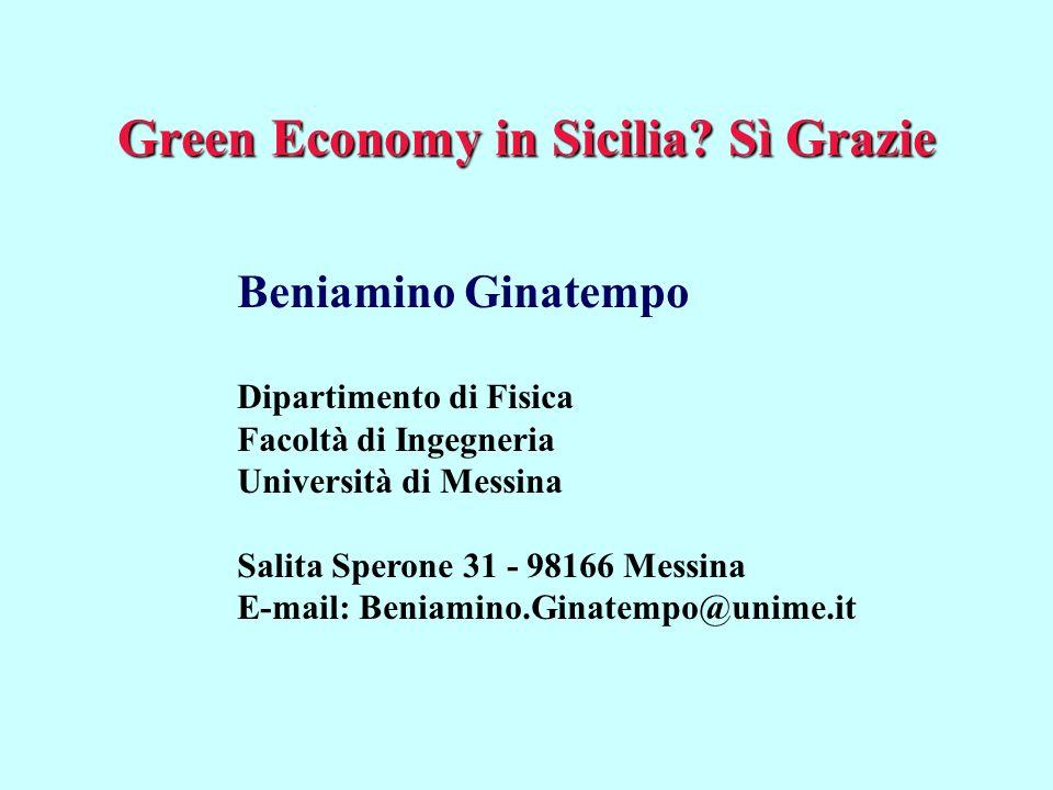 Green Economy in Sicilia.