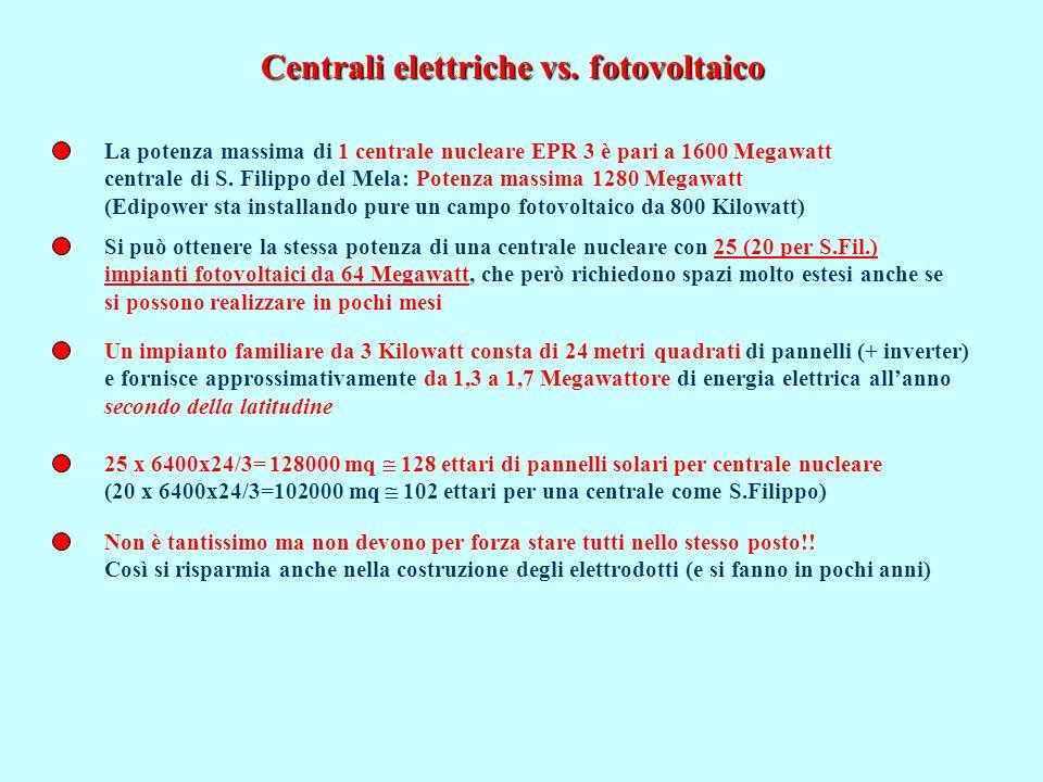 La potenza massima di 1 centrale nucleare EPR 3 è pari a 1600 Megawatt centrale di S.