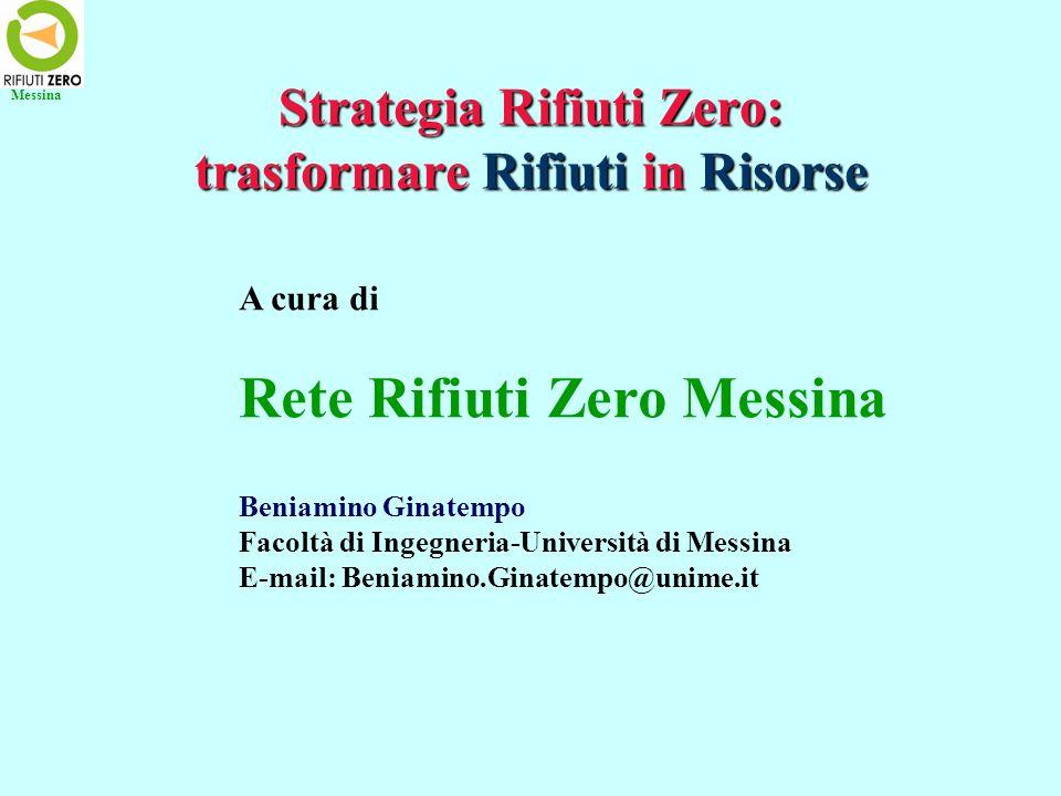 Lesempio di Capànnori (Lucca) Anche in Italia rifiuti zero è possibile: http://blog.libero.it/joiyce/5586094.html Capànnori (45470 mila abitanti suddivisi in 40 frazioni) nel marzo del 2008 ha raggiunto l82% di raccolta differenziata e intende giungere entro il 2020 ad avere zero rifiuti.