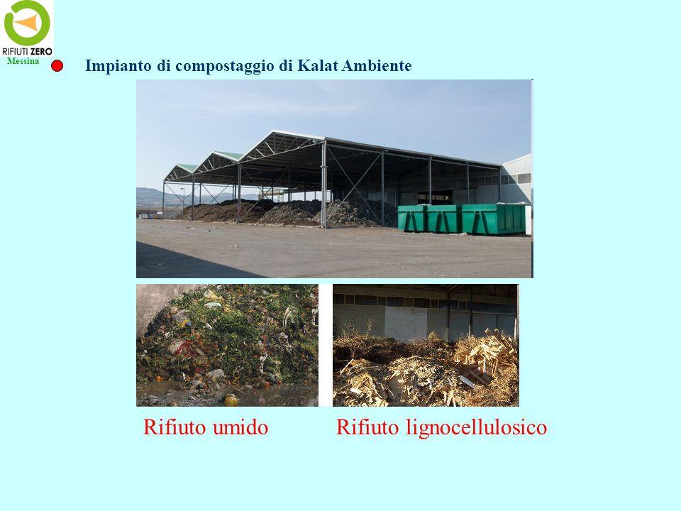 Rifiuto umido Rifiuto lignocellulosico Impianto di compostaggio di Kalat Ambiente Messina