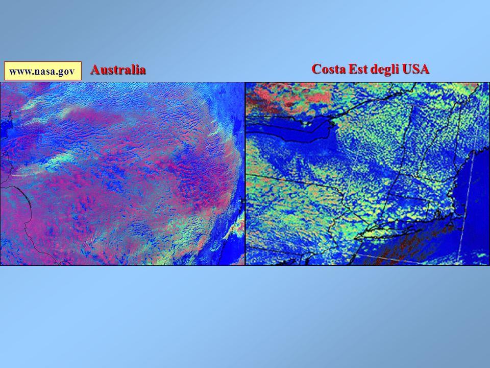 Effetto di una piccola centrale termoelettrica sulla formazione di nuvole dense (PM10) Distanza = 130Km www.nasa.gov