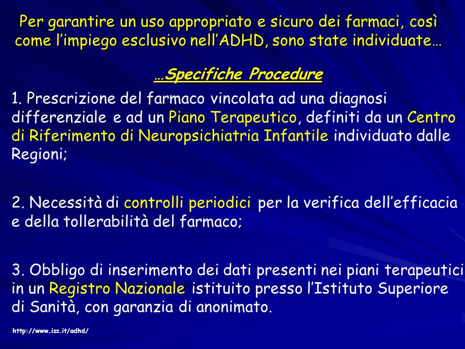 …Specifiche Procedure 1.