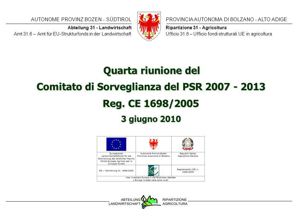 AUTONOME PROVINZ BOZEN - SÜDTIROLPROVINCIA AUTONOMA DI BOLZANO - ALTO ADIGE CDS – PSR 3 giugno 2010BA – ELR 3.