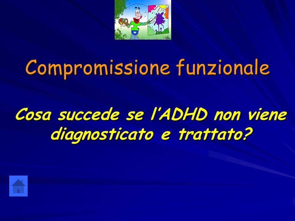 Compromissione funzionale Cosa succede se lADHD non viene diagnosticato e trattato?