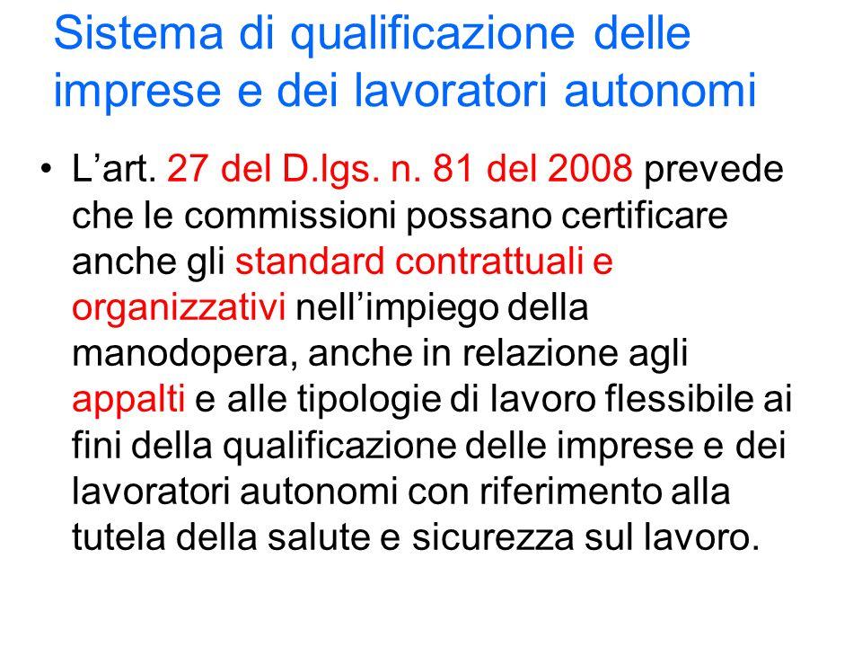 Sistema di qualificazione delle imprese e dei lavoratori autonomi Lart.