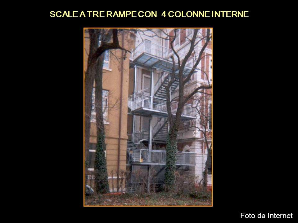 SCALE A TRE RAMPE CON 4 COLONNE INTERNE Foto da Internet
