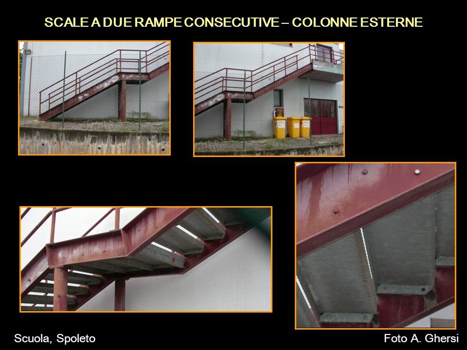 SCALE A DUE RAMPE CONSECUTIVE – COLONNE ESTERNE Scuola, SpoletoFoto A. Ghersi