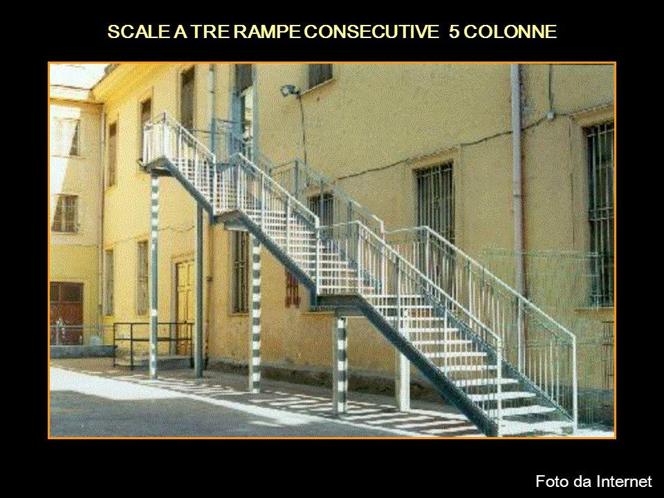 SCALE A TRE RAMPE CONSECUTIVE 5 COLONNE Foto da Internet