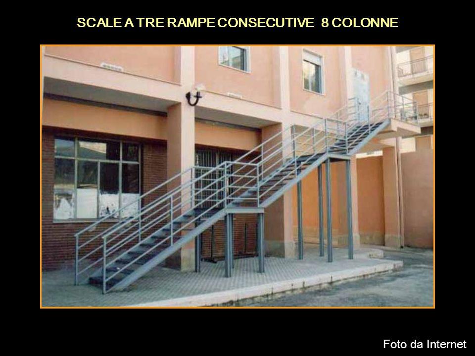 SCALE A TRE RAMPE CONSECUTIVE 8 COLONNE Foto da Internet
