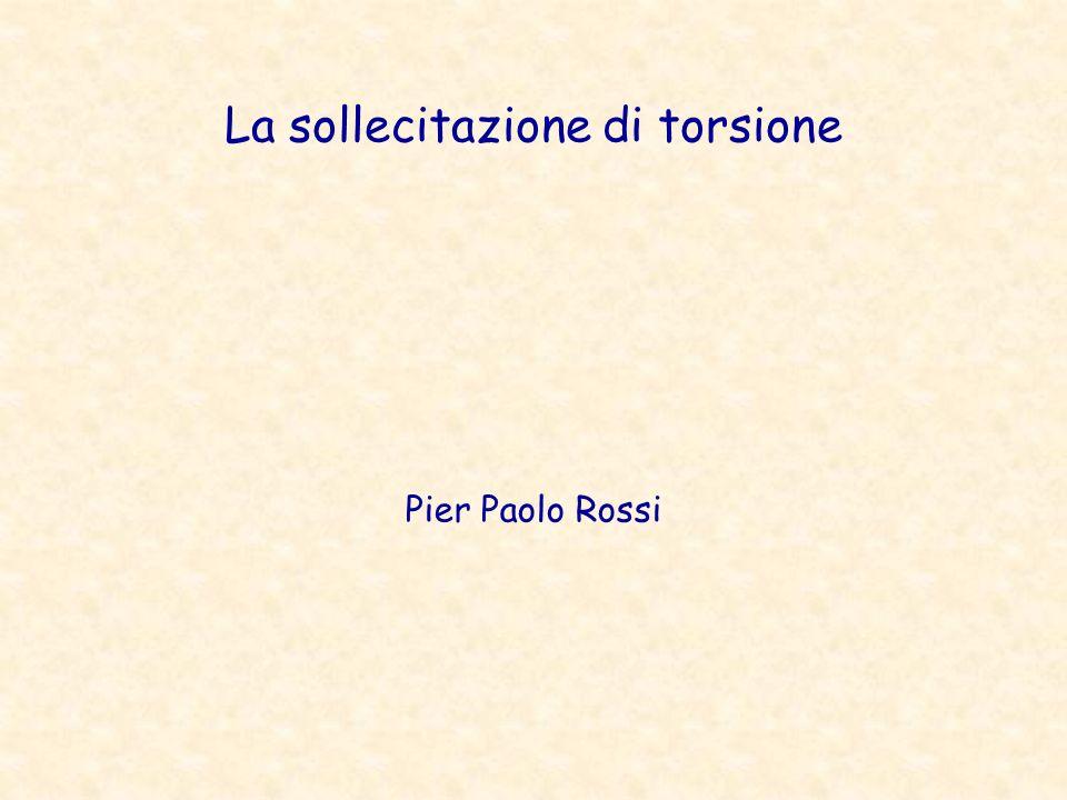 La sollecitazione di torsione Pier Paolo Rossi