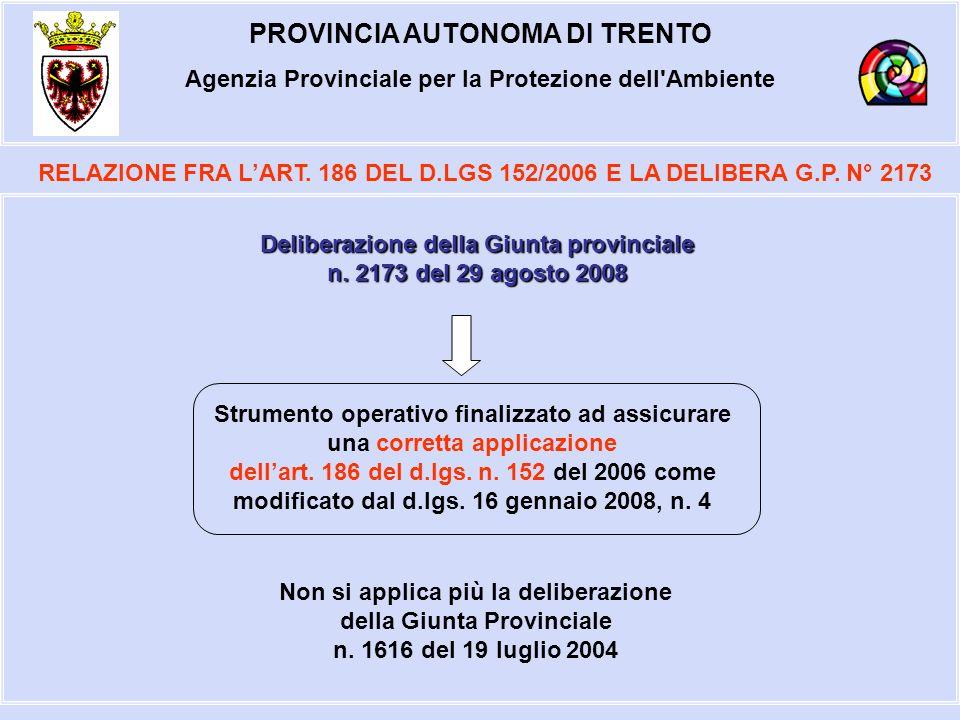 PROVINCIA AUTONOMA DI TRENTO Agenzia Provinciale per la Protezione dell Ambiente RELAZIONE FRA LART.