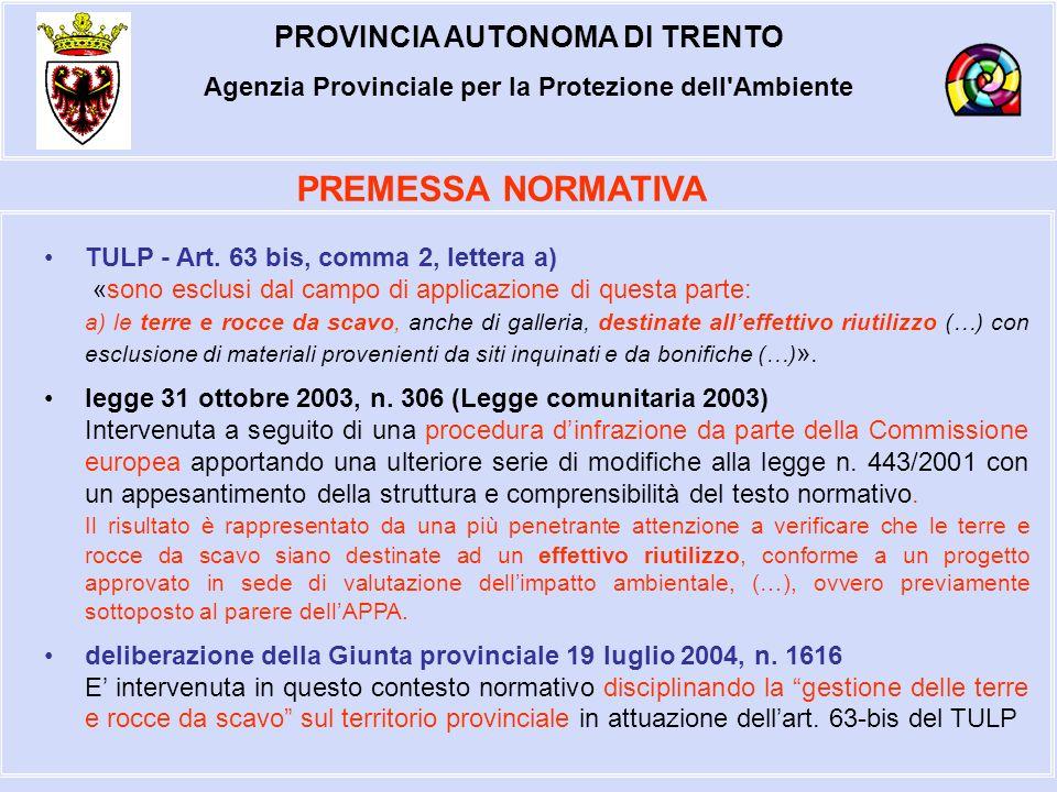 PROVINCIA AUTONOMA DI TRENTO Agenzia Provinciale per la Protezione dell Ambiente d.lgs.