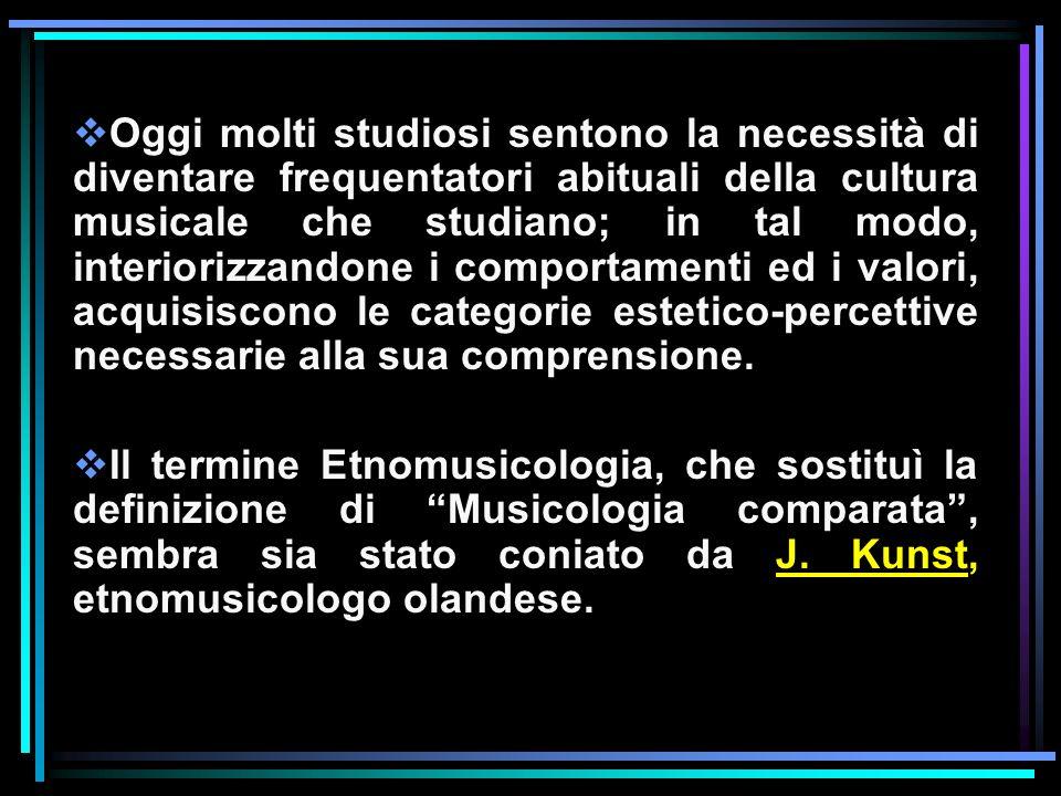 Oggi molti studiosi sentono la necessità di diventare frequentatori abituali della cultura musicale che studiano; in tal modo, interiorizzandone i com