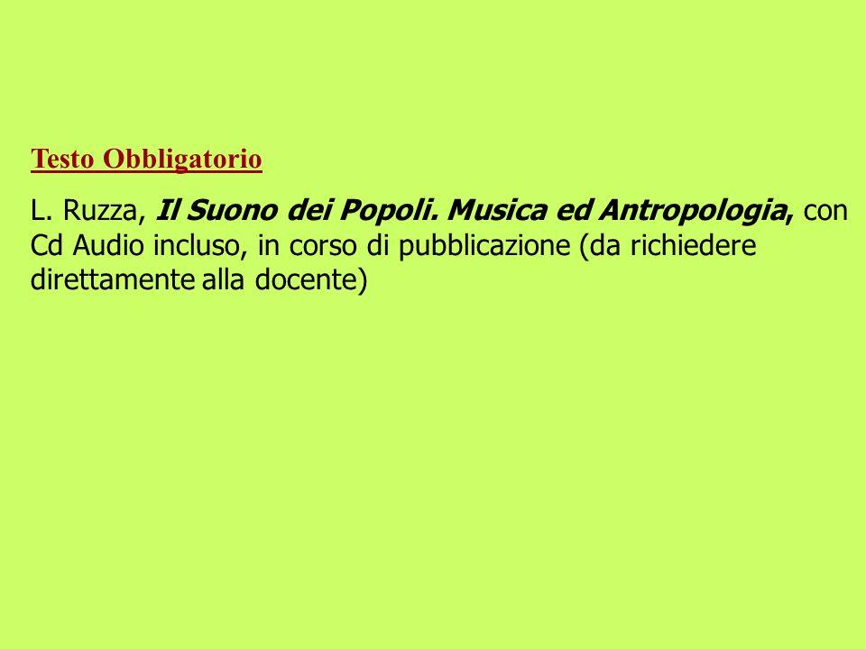 1 Testo a Scelta tra i seguenti 1) Cassio Francesca, Percorsi della voce.