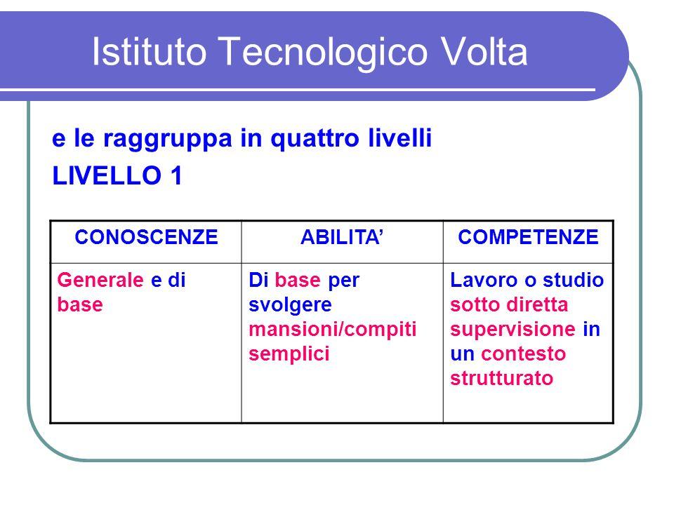 Istituto Tecnologico Volta SCIENZE INTEGRATE - Perché integrate.