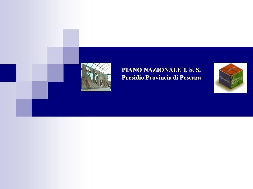 PIANO NAZIONALE I. S. S. Presidio Provincia di Pescara