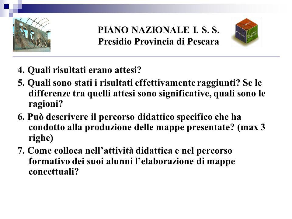PIANO NAZIONALE I. S. S. Presidio Provincia di Pescara 4.