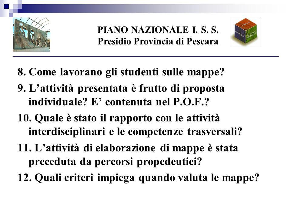 PIANO NAZIONALE I. S. S. Presidio Provincia di Pescara 8.