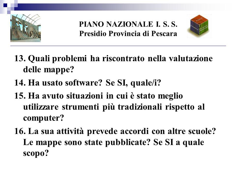 PIANO NAZIONALE I. S. S. Presidio Provincia di Pescara 13.