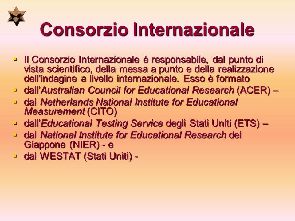 Consorzio Internazionale Il Consorzio Internazionale è responsabile, dal punto di vista scientifico, della messa a punto e della realizzazione dell'in