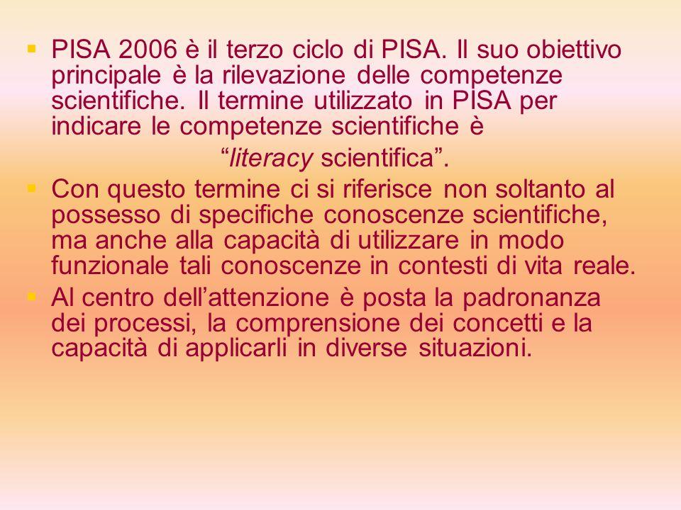 PISA 2006 è il terzo ciclo di PISA. Il suo obiettivo principale è la rilevazione delle competenze scientifiche. Il termine utilizzato in PISA per indi