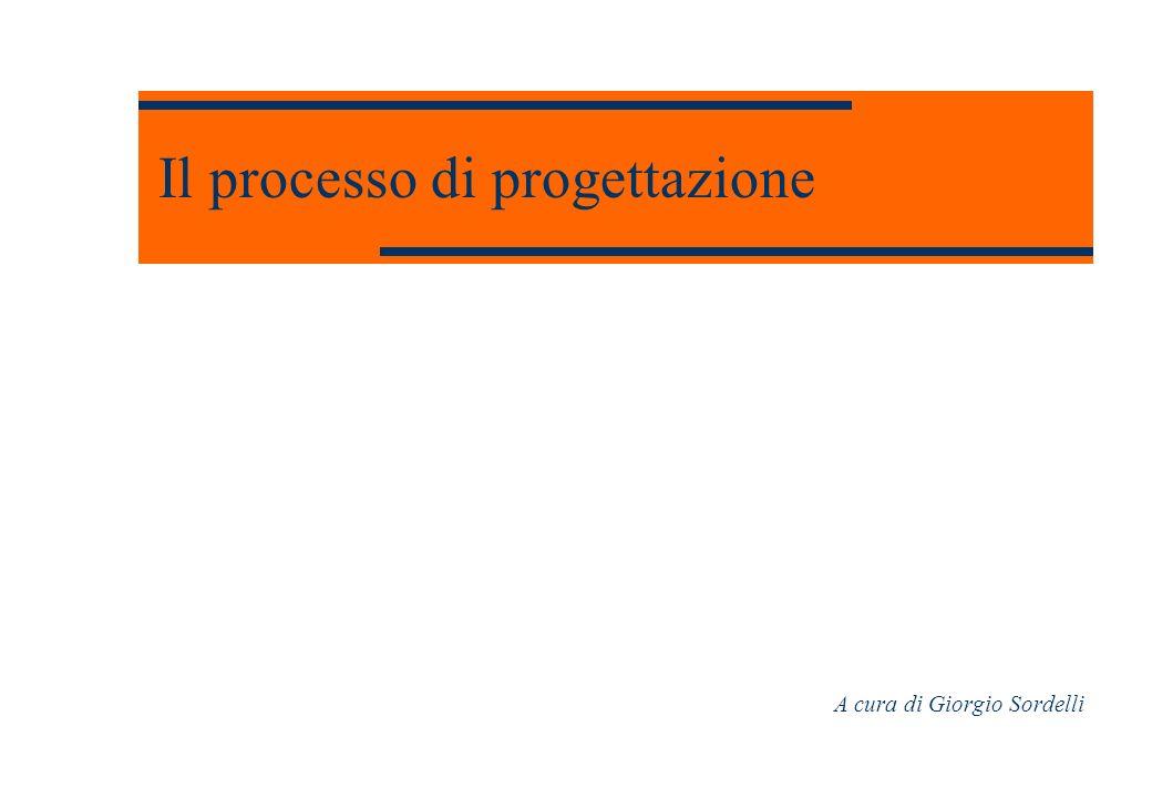Il processo di progettazione A cura di Giorgio Sordelli