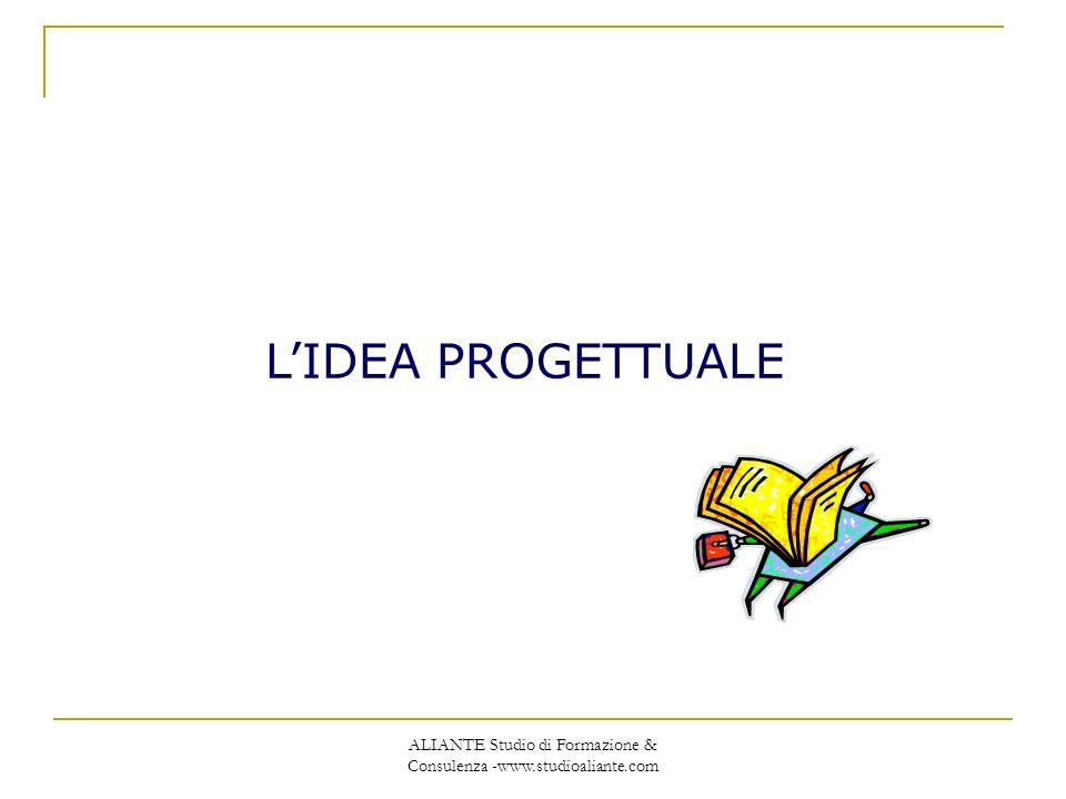 ALIANTE Studio di Formazione & Consulenza -www.studioaliante.com LIDEA PROGETTUALE