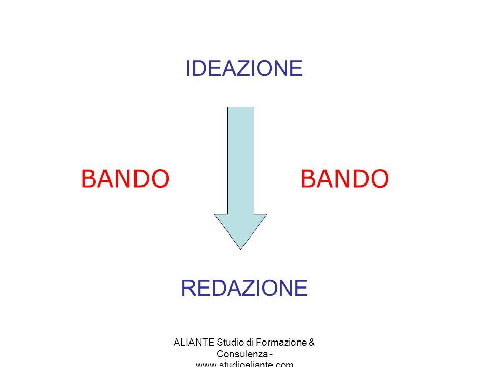 ALIANTE Studio di Formazione & Consulenza - www.studioaliante.com IDEAZIONE REDAZIONE BANDO